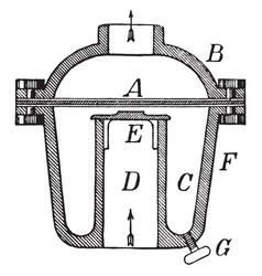 Sand trap vintage vector