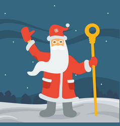Santa claus in the forest vector