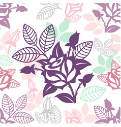 seamless decorative floral ornamental pattern vector image