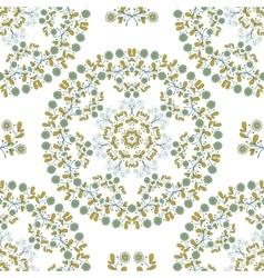 Seamless Pattern Mandala Blue Flowers vector image