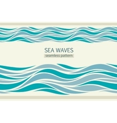Seamless patterns with stylized waves vector
