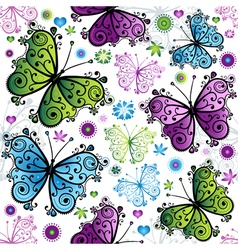 Seamless spring bright pattern vector