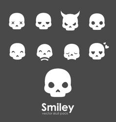 smiley skull emoji vector image