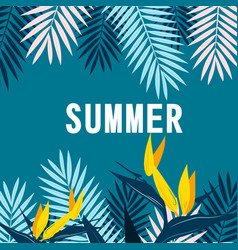 summer jungle blue background image vector image vector image