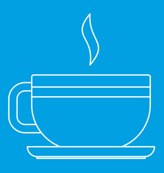 Tea cup icon outline style vector