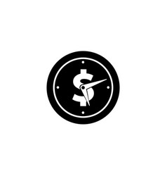 Time is money icon symbol vector