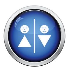 Toilet icon vector image