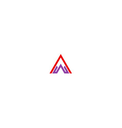 triangle initial pyramid business logo vector image