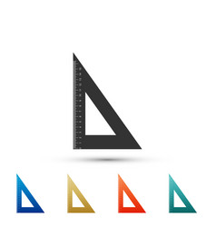 triangular ruler icon straightedge symbol vector image