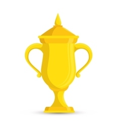 trophy winner tennis game vector image