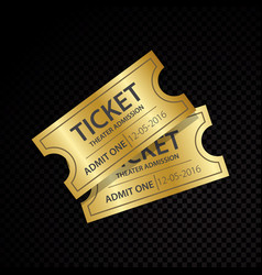 two tickets and coupons templates vector image
