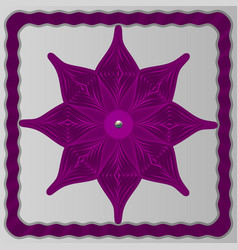 ultra-violet snowflake from paper on a light vector image