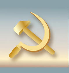 Ussr coat of arms communism icon with hammer and vector