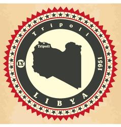 Vintage label-sticker cards libya vector