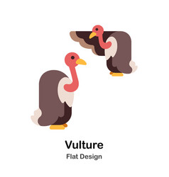 Vulture flat icon vector