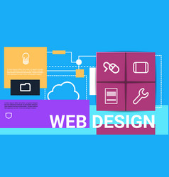 web design technology presentation interface icon vector image
