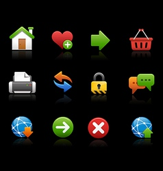 Web site Icons Black Background vector image