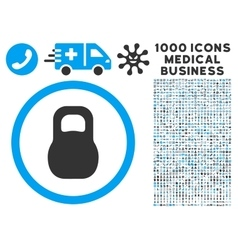 Weight Iron Icon with 1000 Medical Business vector image