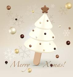 White Christmas postcard greetings vector image