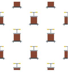 Wine press pattern flat vector