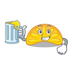 With juice orange jelly candy mascot cartoon vector