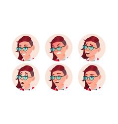 Woman avatar people facial emotions emo vector