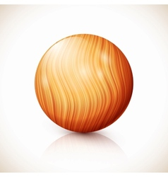 yellow isolated wooden ball vector image
