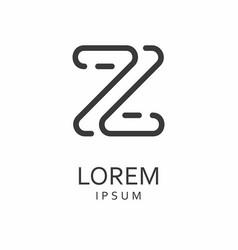 Z letter logo icon vector