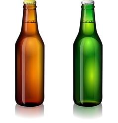 Beer bottle labels vector image vector image