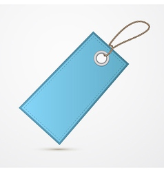 Empty Blue Label Tag With String vector image
