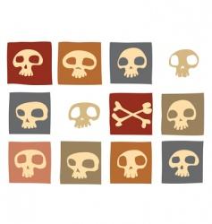funny skulls vector image