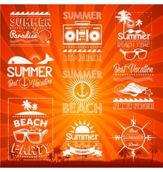 Retro hand drawn elements for Summer calligraphic vector image vector image