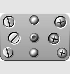 screws vector image