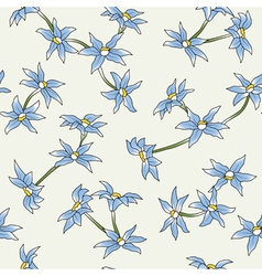 seamless of a blue flowers vector image