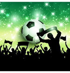 Silhouette of a football soccer crowd background vector image vector image