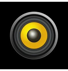 Speaker Isolated on Black Background vector image