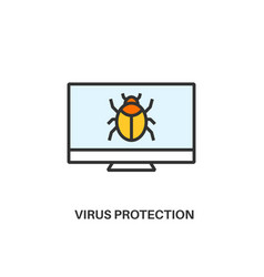 virus protection icon vector image vector image