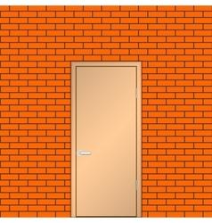 Door on a brick wall vector image vector image
