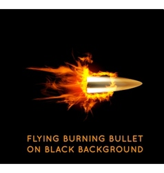 Flying burning bullet vector image