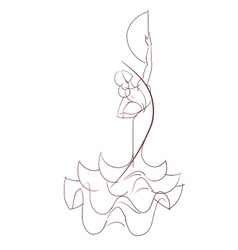 Gesture drawing flamenco dancer expressive pose vector