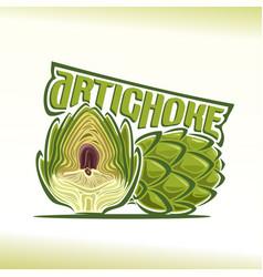 logo for artichoke vector image