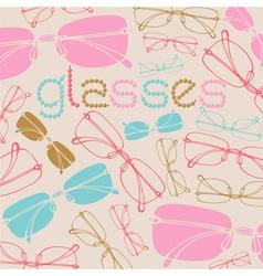 Vintage Glasses Pattern vector image vector image