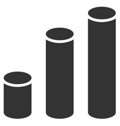 bar chart cylinders flat icon vector image