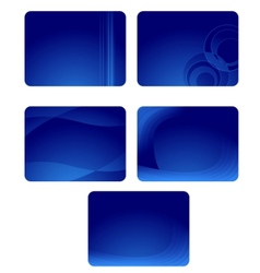 collection of blue business cards with waves vector image vector image