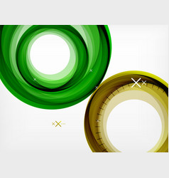Flying abstract circles geometric vector