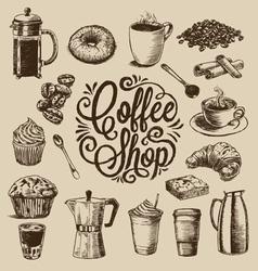 Hand Drawn Coffee vector image