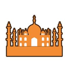 india taj mahal building vector image