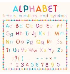 Latin alphabet isolated on white background vector image vector image