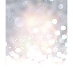 Shining background with snow vector image vector image