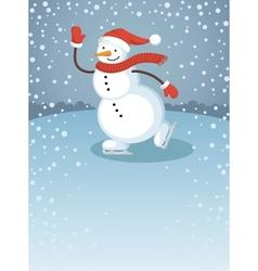 Snowman1 vector image vector image